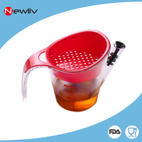 Plastic Gravy fat Separator with measuring line for kitchen,Plastic cooking oil water separator with Strainer & Stopper set