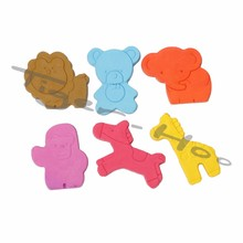 Cartoon Pattern 6 PK Zoo Soap Crayon