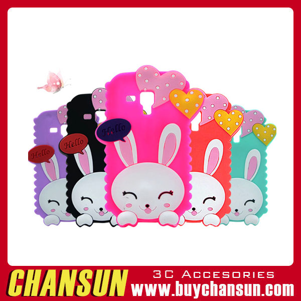 2016 3D lovely rabbit silicon soft phone cover case for samsung galaxy s6