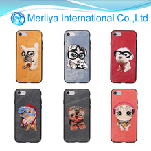 NEW!Chinese wind Hand embroidery case cowboy style Cute Animals cartoon phone case for iphone7 7plus