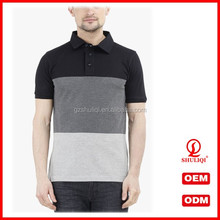 Cool black men 5% spandex 95% cotton polo t shirts,custom plain turn down collar polo shirts with customized logo T-23