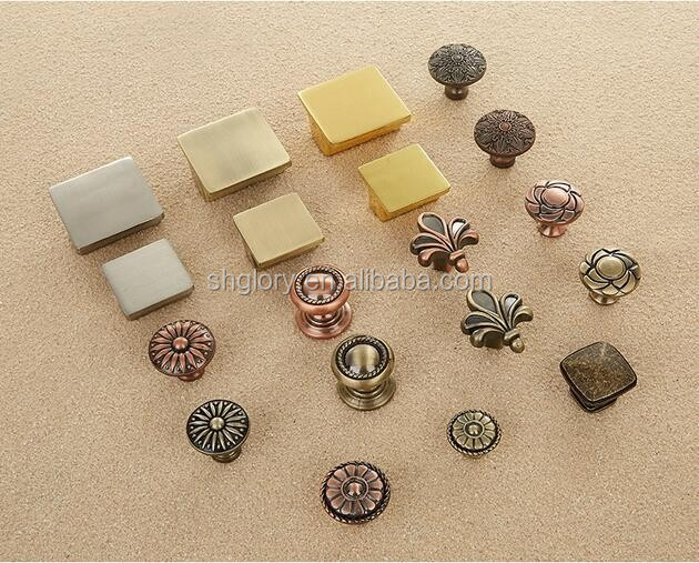 Zinc alloy antique furniture handle knobs, European style cabinet knob drawer pull