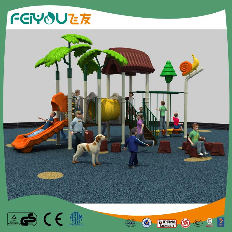 2017 FEIYOU Products To Import Adventure Plastic Slide Kids Outdoor Playground