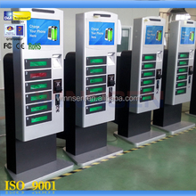 Restaurant Airport Shopping mall Bar digital lockers coin/note/card operated touch screen mobile phone charging