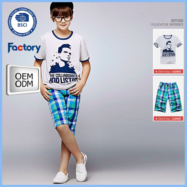 wholesale jersey cotton kids half pants for children boy