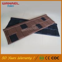 Corrugated Roofing Sheet Wanael Shingle 50-Year Warranty Lightweight Color Stone Coated Metal Roof Tile Portuguese