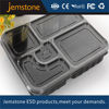 PP Plastic compartment food tray with lid custom logo