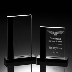 Blank plaque glass crystal award trophy for engrave