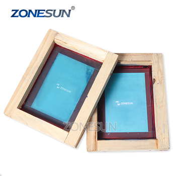 ZONESUN Custom Printing Wood Frame Silk Screen Print Polyester Mesh Circuit Boards For Metal Cloth Grass T-shit Printing