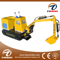 2016 Most Popular electric excavator Kids excavator mini games ride on car for sale