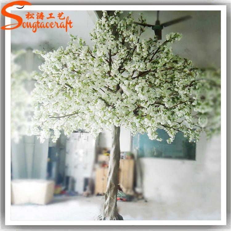 Rbol blanco decoraci n bodas tipo de rbol de flor de for Arbol artificial decoracion
