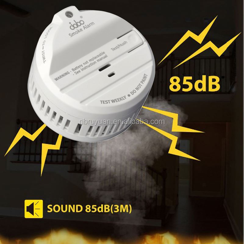 C0930196 NF292/VDS3131/Q-label/UL Mini smoke detector in hand with various colors