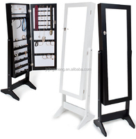 European style wood modern home furniture jewelry mirrored cabinet made in china