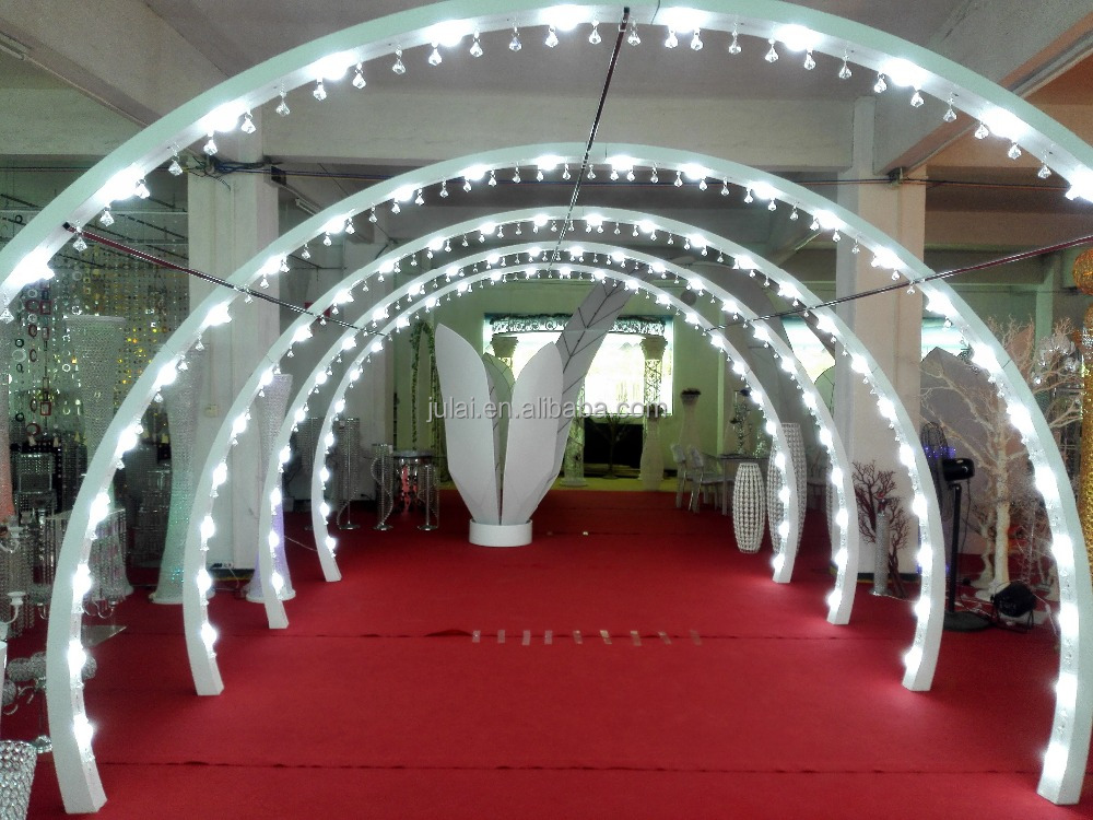 New hot sale lighted wedding arches columns for wedding decoration