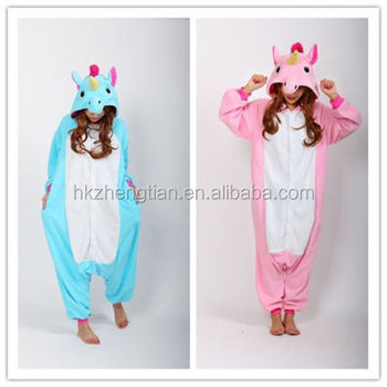 Unisex Adult Onesie Sleepwear Unicorn Pajamas Animal Cosplay Costume