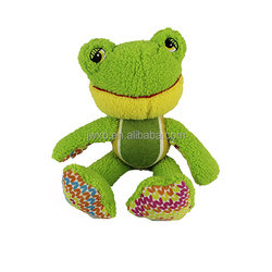Plush frog dog pet toy green frog dog toy with tennis ball