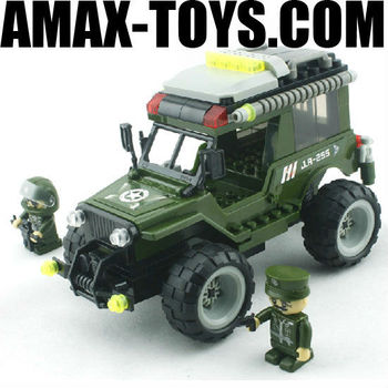 bd-0788255 building block set Plastics intelligent toys brick military command car 143pcs