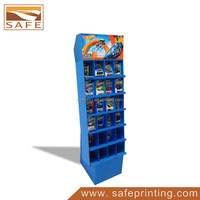 CMYK Printing Floor Cardboard Dolls And Toys Display Stand
