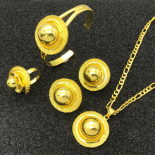 Wholesale Gold Plated Africa Ethiopian Ethnic Wedding Jewelry Set