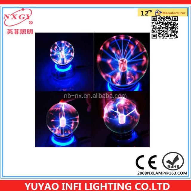 New Magic Plasma Crystal Desktop Ball Decoration USB DC Powered Touch Light Toy