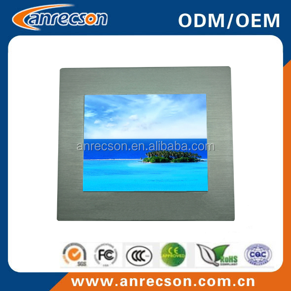 "15"" industrial touch screen pc/fanless embedded box pc"
