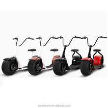 Battery operated fat tire 60V 1000W hub motor halley electric scooter 35km/h speed