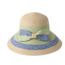 Hand made small brim trilby womens promotional paper straw bowler hat wholesale