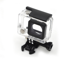 30M waterproof housing case for GoPros Heros 4, with bracket,Gopros heros 4 waterproof housing