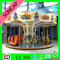 Mini 16seats kiddie carousel rides for sale