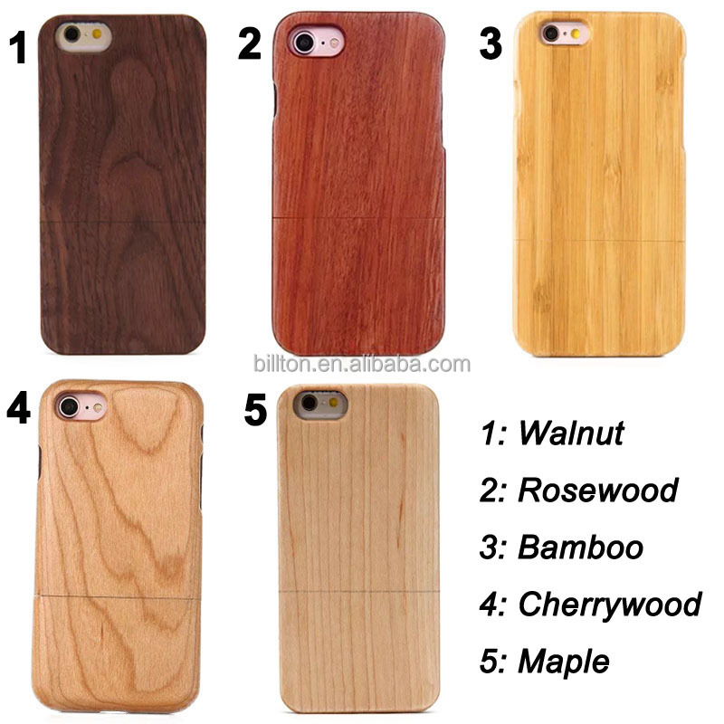 Blank wood bamboo case for iPhone 5 6 6 Plus 7 7 Plus