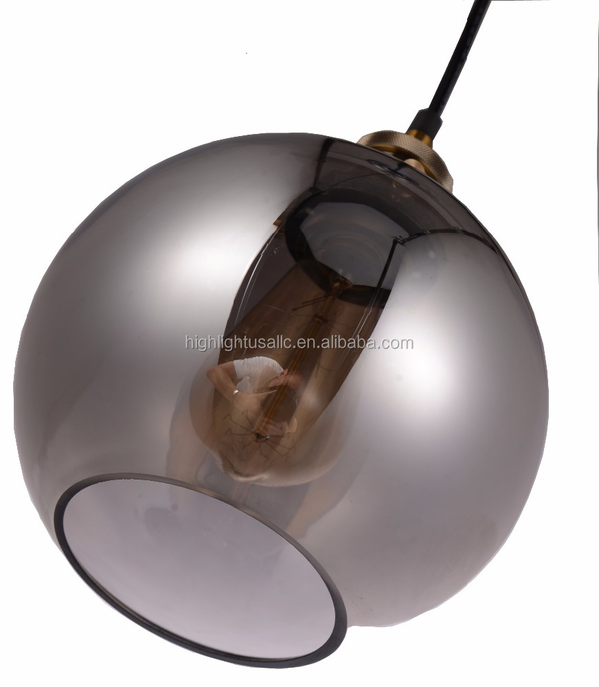 Retro Globe Glass Ball Pendant Lamp Light