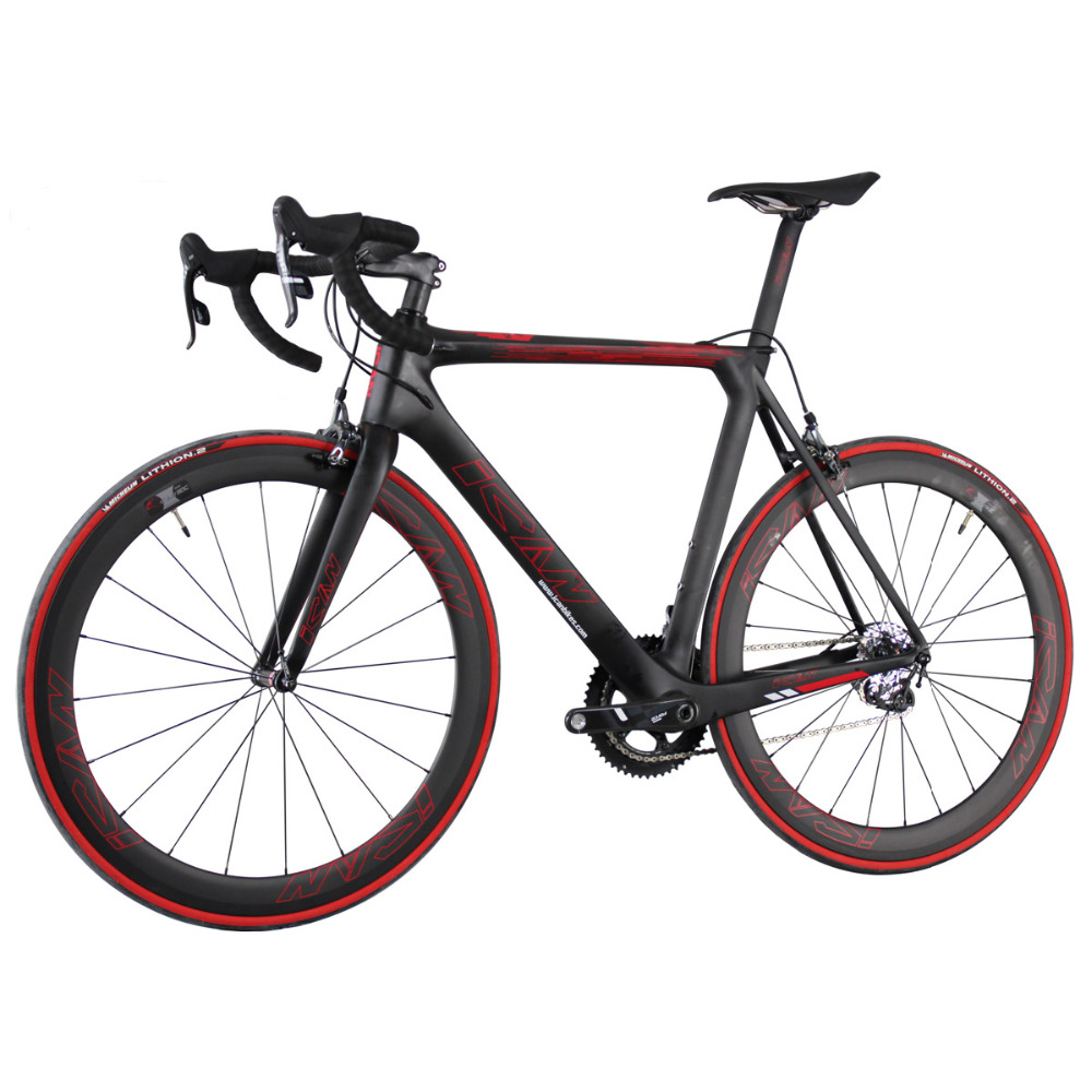 ICANBikes complete road bicycle fulling carbon racing bike with force groupsets and all carbon accessory