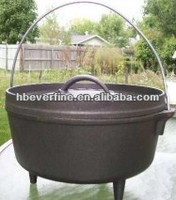 camping cookware three legged cast iron pots dutch oven 20QT