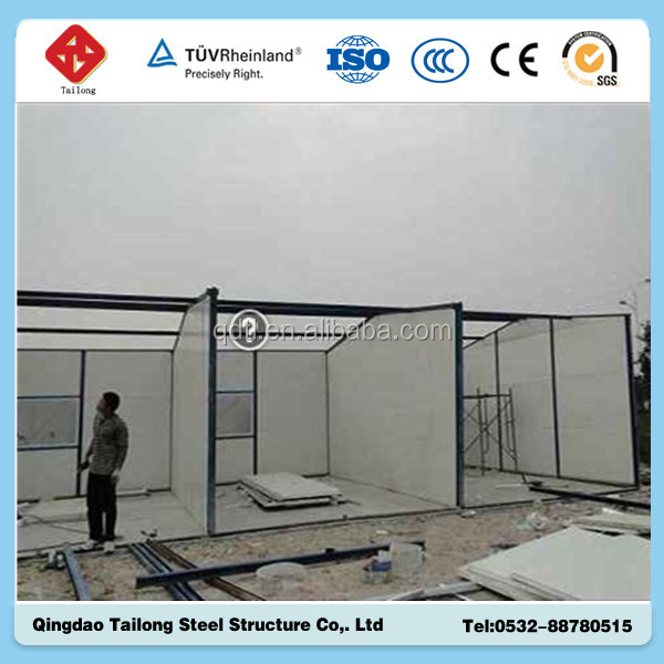 low cost prefabricated corrugated buildings overhead crane factory