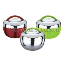 stainless steel round shape apple shaple lunch box