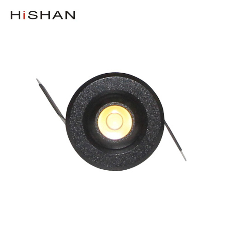 Cut 33-35mm 1w 2w black spot led mini down light for drink cabinet