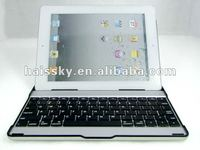 hot selling aluminum bluetooth keyboards cases for NEW IPAD 3