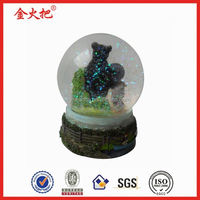 2014 New design photo frame blown glass water globes