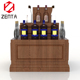 Attractive Floor Standing Custom Logo Quality Promotional Wooden Wine Beverage Drink Display Stand
