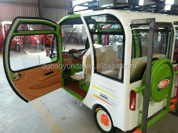 2017 New Design E-tricycle Closed Body Pedicab Passengers
