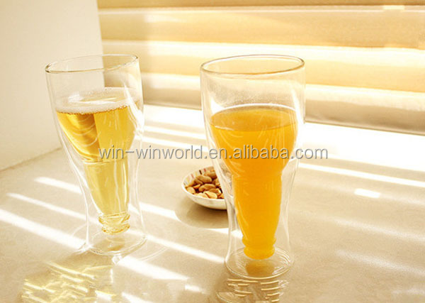 Two Wall Borosilicate Party Champagne Glass Cup