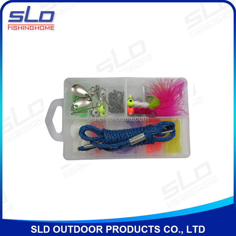 Fishing accessories kit for kids fishing with plastic box for Kids fishing kit