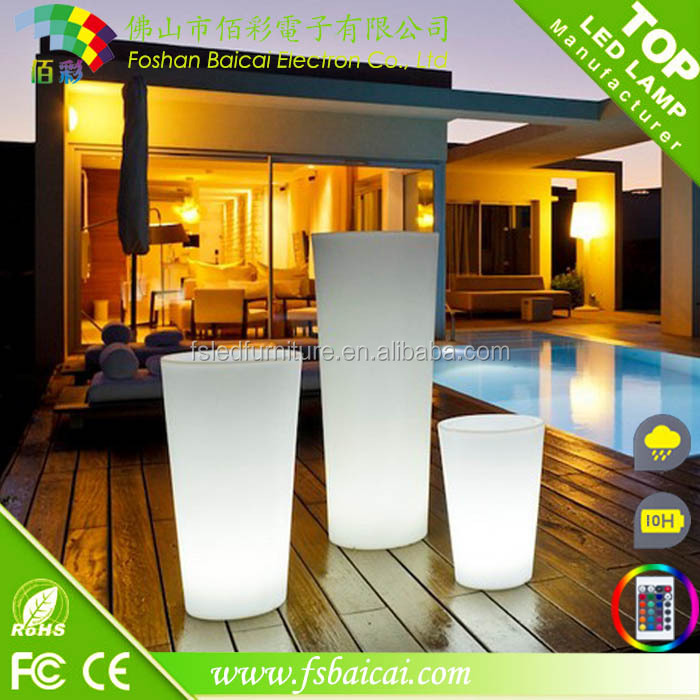 Hot-sale Portable LED garden vase / LED flower pot for outdoor decoration