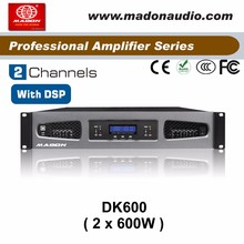 DK600 Switching Power supply Power Amplifier with DSP function 2x600W dsp audio power amplifierr for meeting church, KTV room