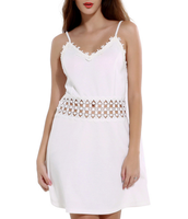 New Lady crochet A-Line Empire Waist spaghetti strap dress