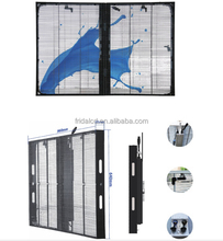 rental transparent glass sexy full hd video screen TR-P3.91-7.81 LED display wall