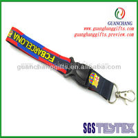 Popular short woven lanyard with silicone flag