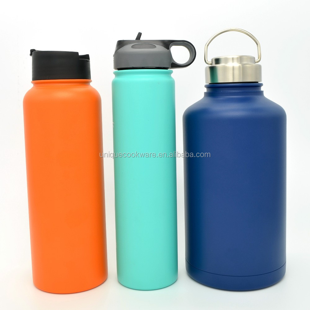 Wide Mouth Modern Design Insulated Water Bottle Straw Lid