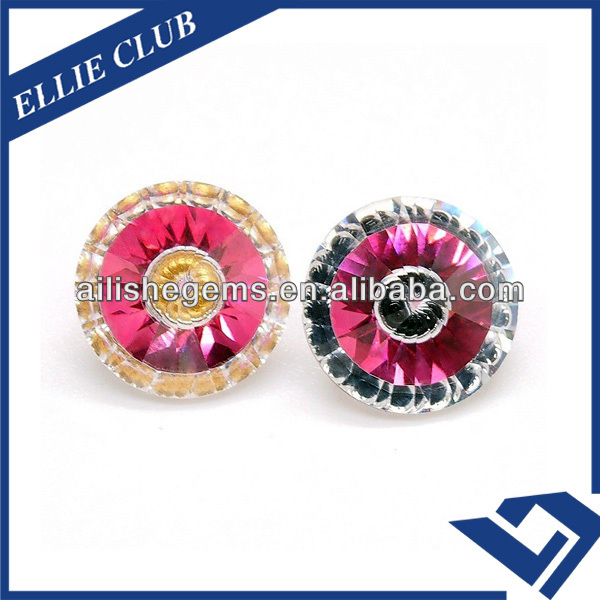 diamante special round eye various colors created russia CZ gems