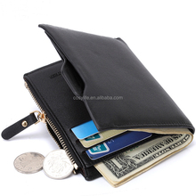 Creative personality mens wallet with money clip leather money clip wallet for men